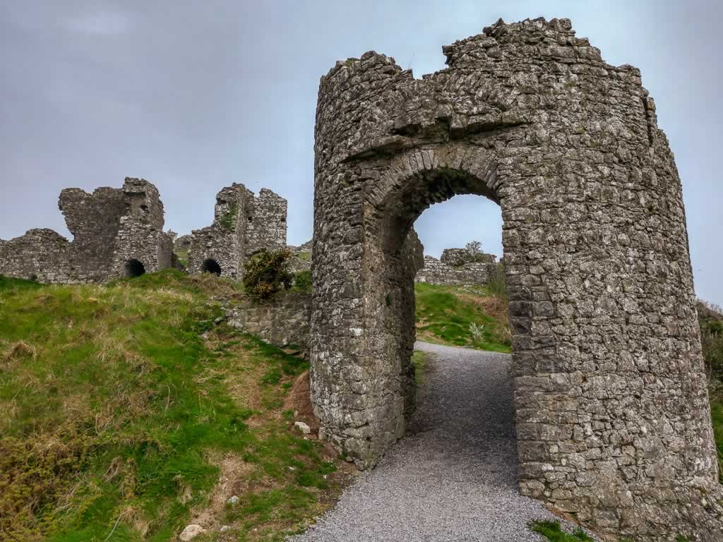 What remains of Dunamase Castle is fun to explore