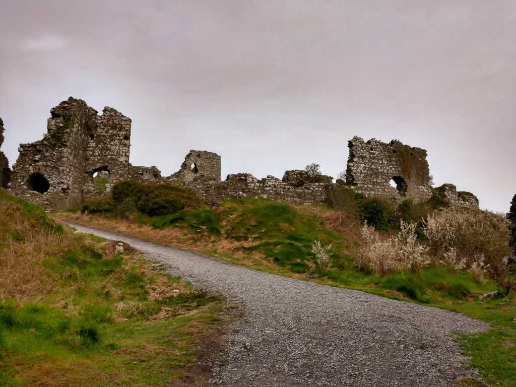 The climb up Rock Of Dunamase Ireland is moderate and well worth it once you reach the top