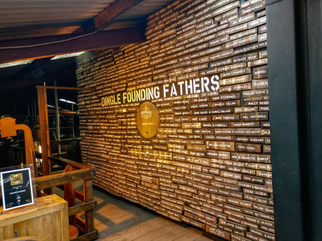 Wild Atlantic Way Ireland Dingle Distillery Founding Fathers