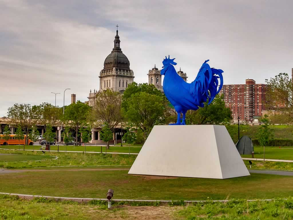 Minneapolis 21 Sculpture Garden Blue Rooster