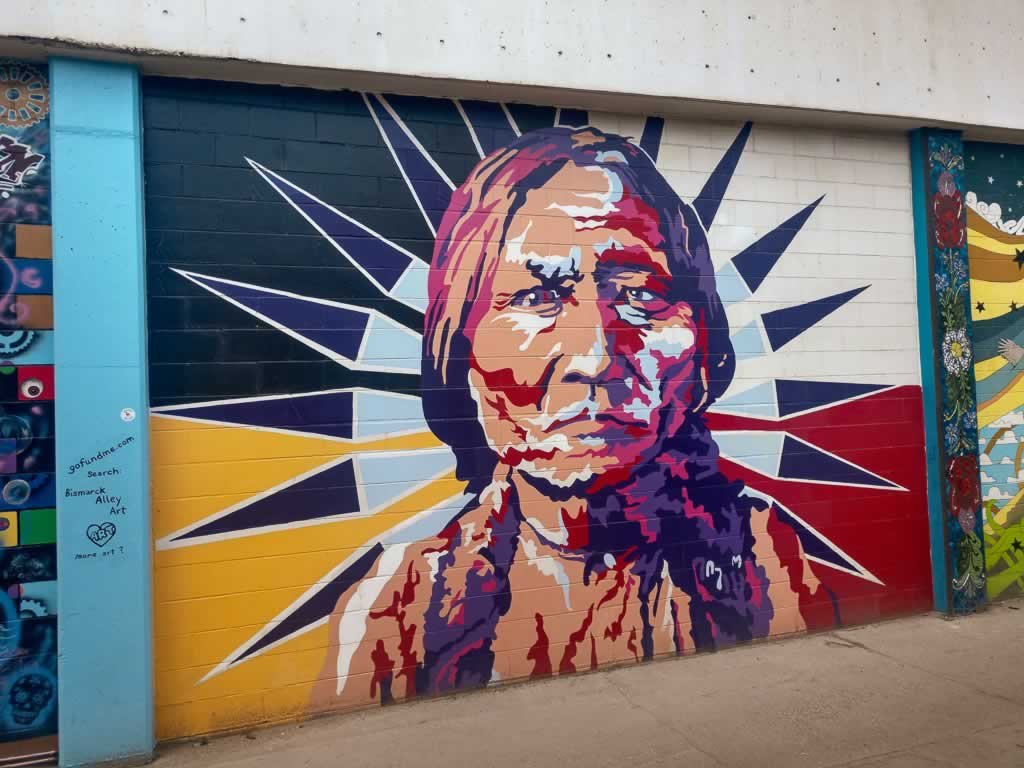 North Dakota Bismarck 5th Street Street Art Indian