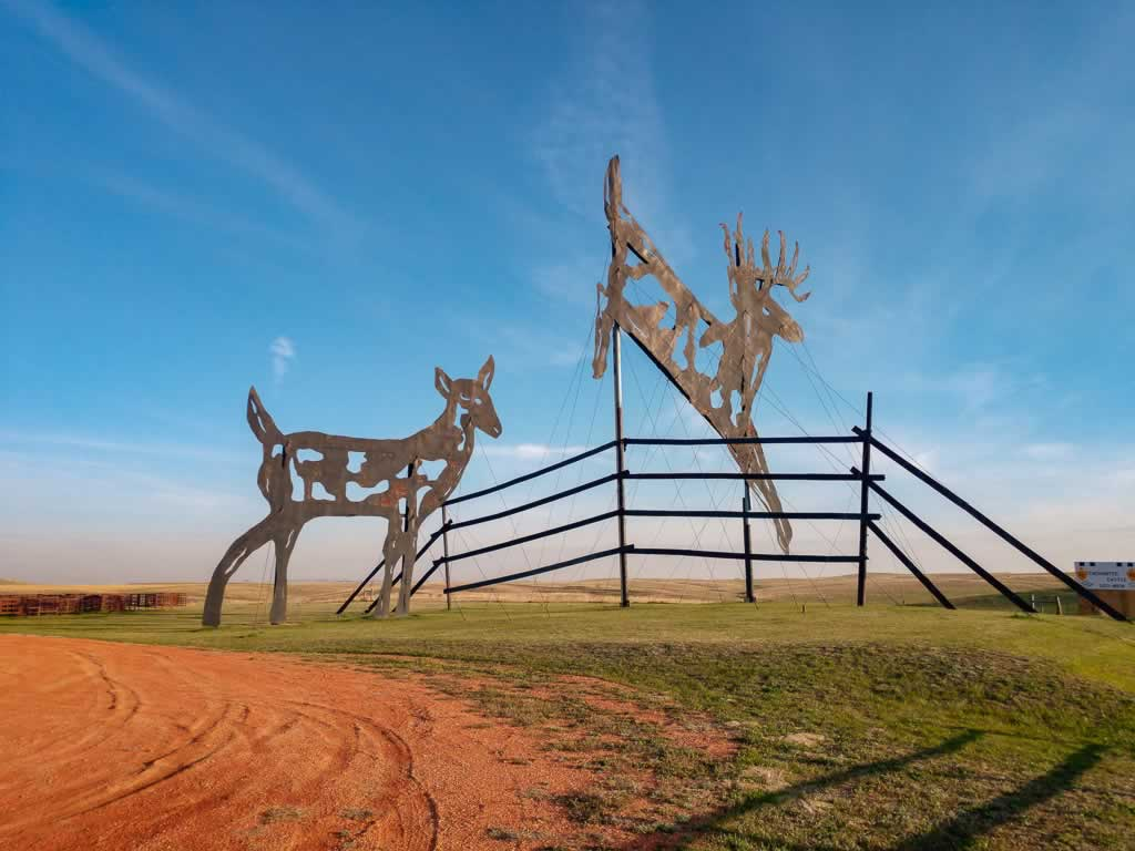 North Dakota Enchanted Highway Deer
