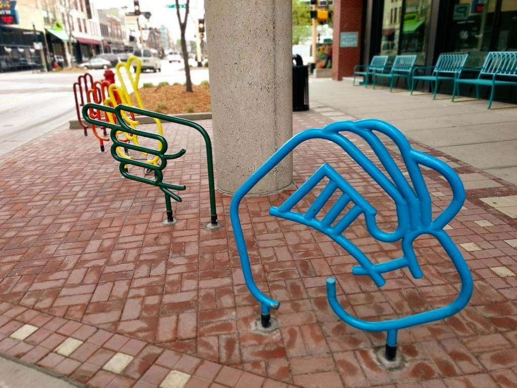 North Dakota Fargo Bike Rack Art
