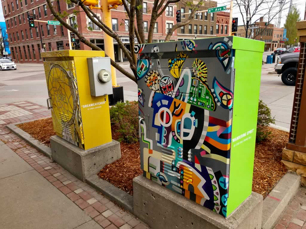 North Dakota Fargo Utility Boxes Art