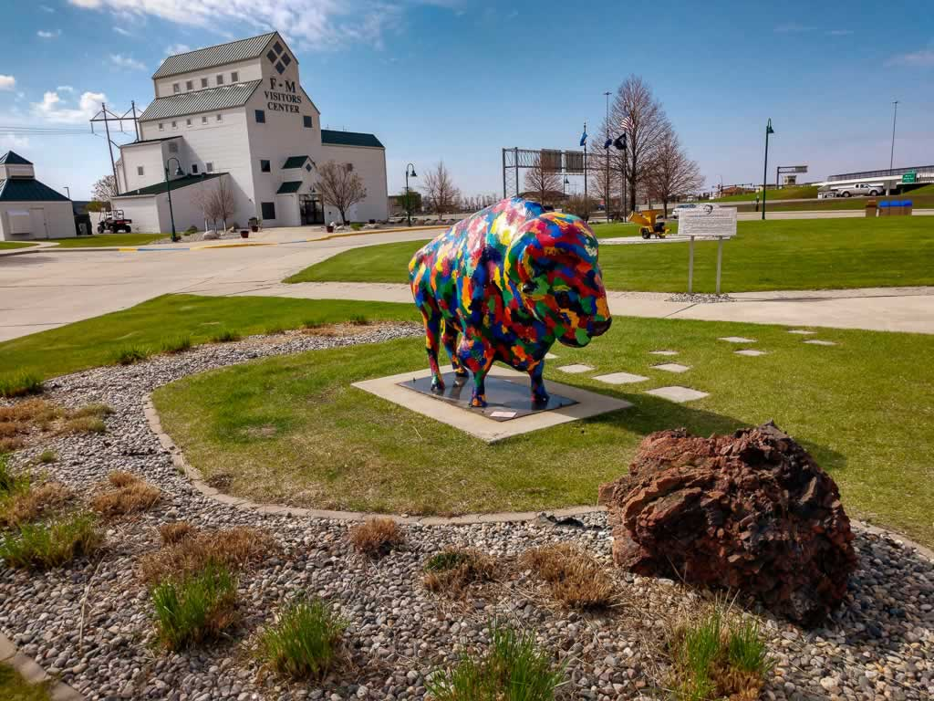 North Dakota Fargo Visitors Center Buffalo Walk of Fame