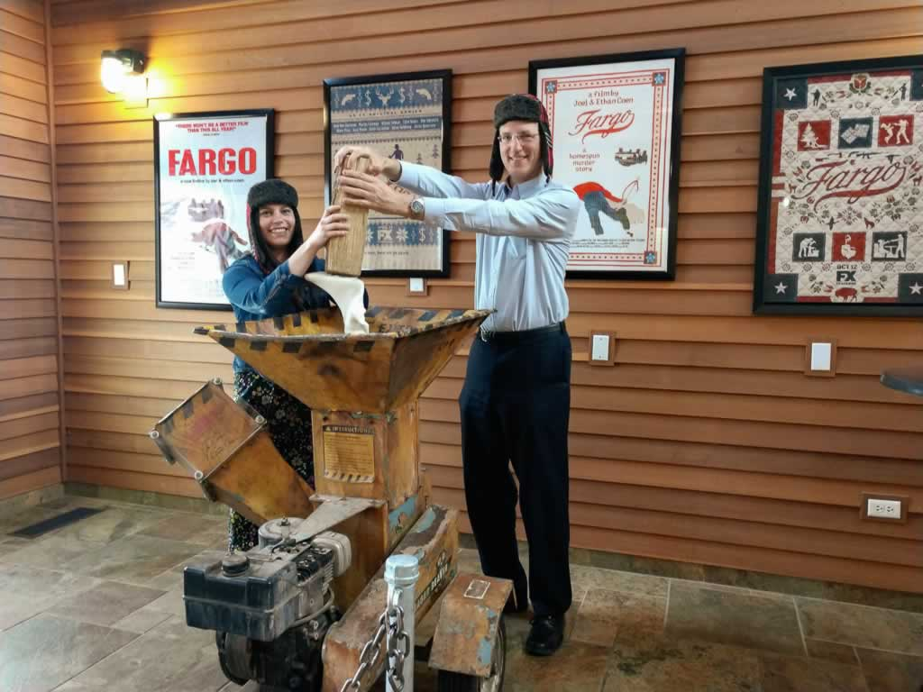 North Dakota Fargo Visitors Center Woodchipper