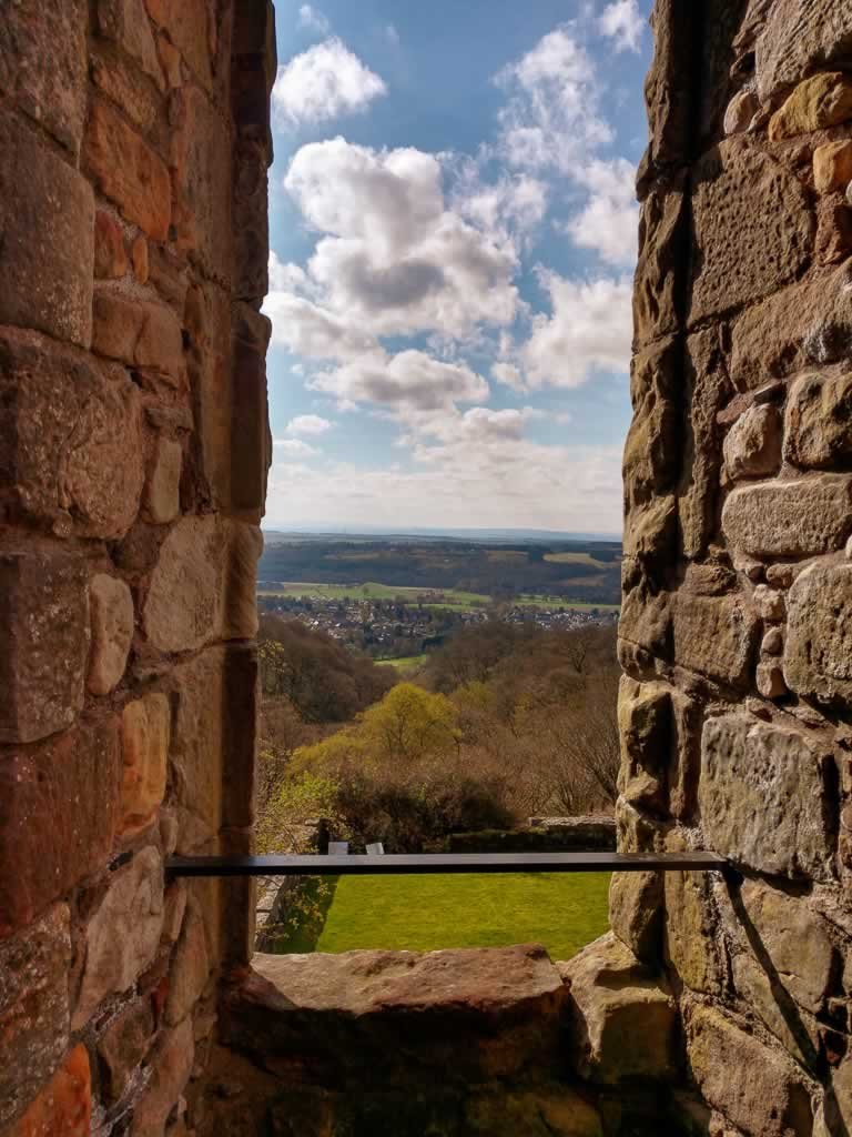castle campbell 05 view of the countryside