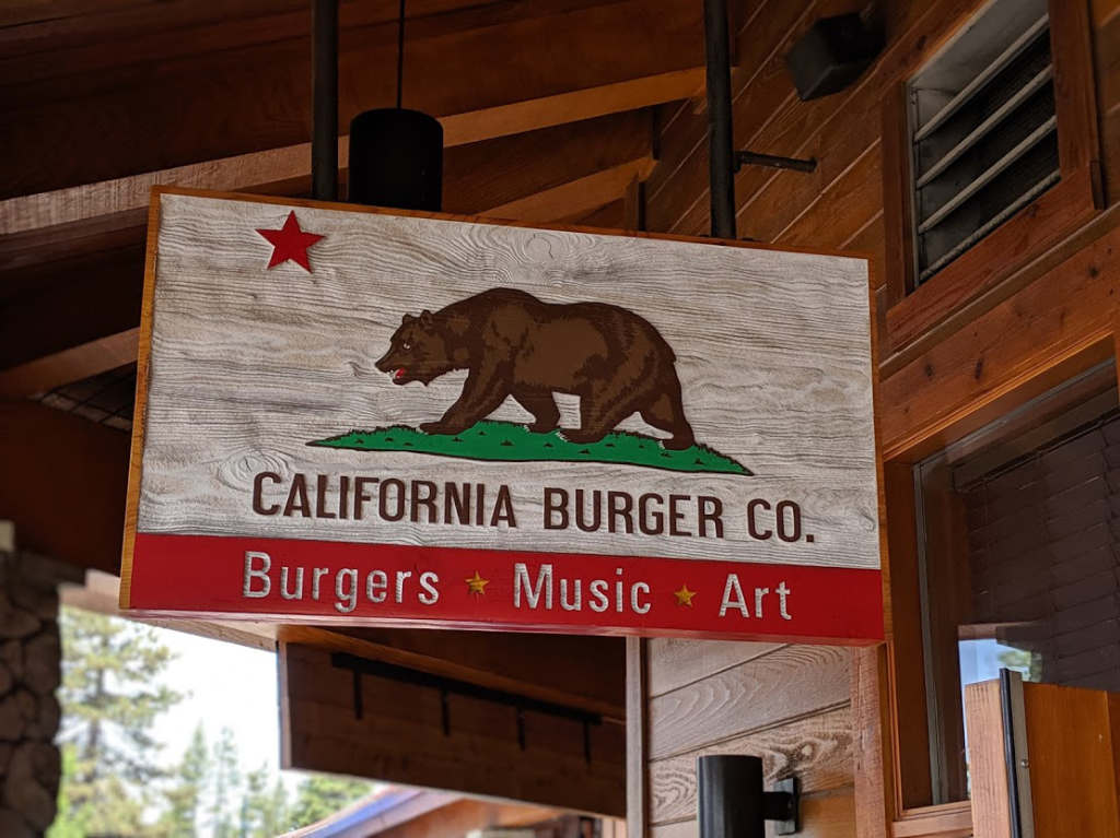 california burger co heavenly valley sign