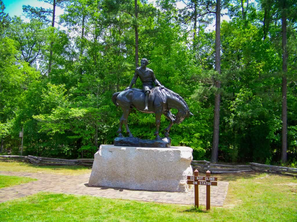 south carolina andrew jackson state park 01 horse statue
